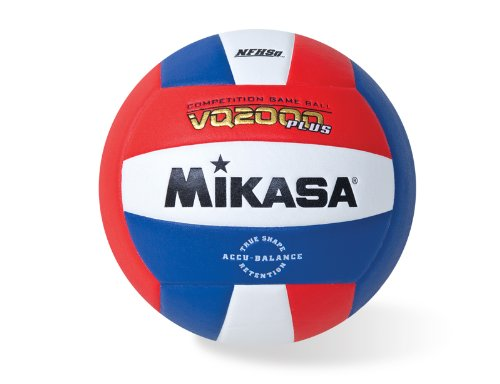 Mikasa VQ2000 Micro Cell Volleyball (Red/White/Blue)