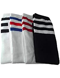 2-5 Pairs Striped Sport Knee Socks for Girls Boys 3-8 years