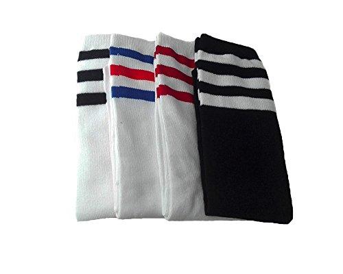 2-5 Pairs Striped Sport Knee Socks for Girls Boys 3-8 years (4 Pairs) -