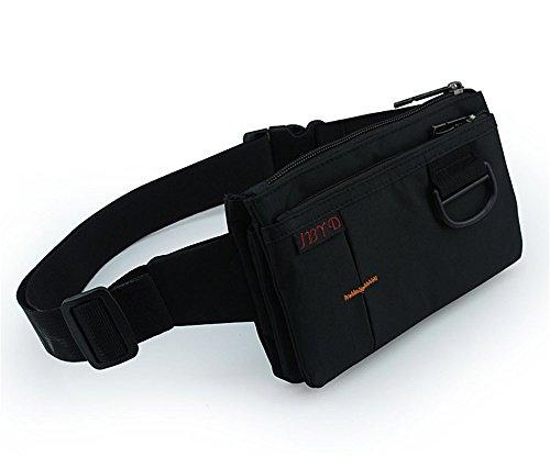 JOTHIN Herren Multi-taschen Brusttasche Dauerhaft Fitnesstasche Wasserdicht Für Outdoor-Jogging (Schwarz) 3mQriHFe
