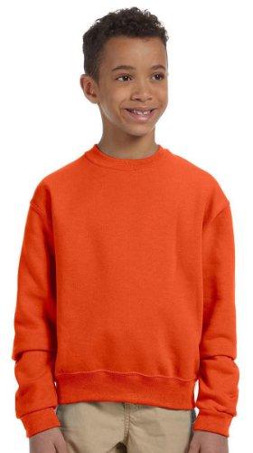 562b Sweatshirt Jerzees (Jerzees Youth 8 oz., 50/50 NuBlend Fleece Crew, Medium, BURNT ORANGE)