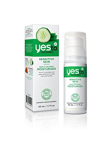 Yes To Cucumbers Sensitive Skin Daily Calming Moisturizer, 1.7 (Cucumber Moisturizer)