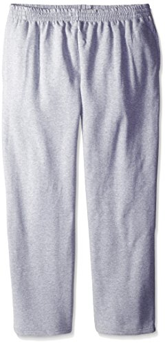 Fruit of the Loom Men's Pocketed Open-Bottom Sweatpants - Extra Sizes, Athletic Heather, XX-Large