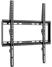 Goobay 49730 väggfäste 55 tum extra platt fäste för stora TV-apparater från 32 till 55 tum till 35 kg max. VESA 400 x 400