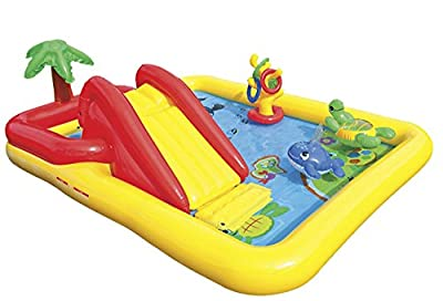 """Intex Ocean Inflatable Play Center, 100"""" X 77"""" X 31"""", for Ages 2+   Educational Computers"""
