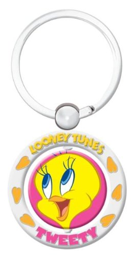 Tweety Bird Spinner Keychain Looney Tunes