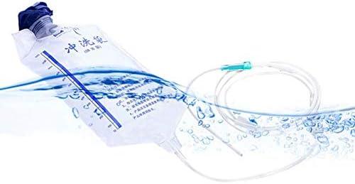 LWX Wiederverwendbare Klistierbeutel Kit Für Darmreinigung Mit Silikon-Schlauch-Darmreinigung/Detox Einläufen, Einfachen Flow-Control, Mit 10 Flushing Heads