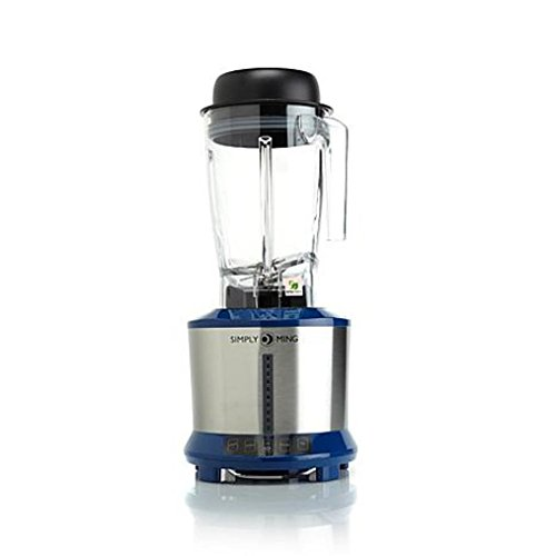 (Ming Tsai 1300-Watt Hot & Cold Power Blender with Tritan Jar - Cobalt Blue)