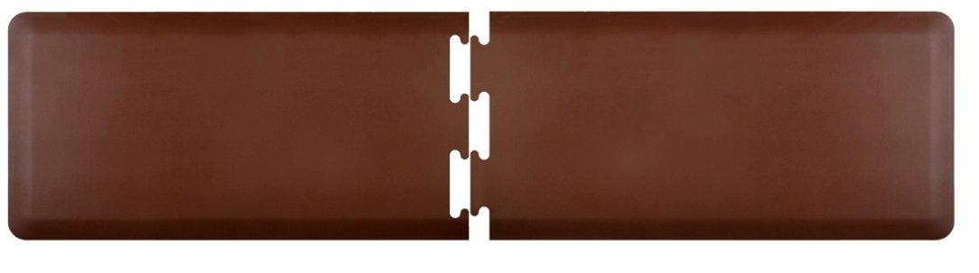 WellnessMats Anti-Fatigue Puzzle Set Kitchen Mat, 8.5 Feet by 2 Feet, Brown
