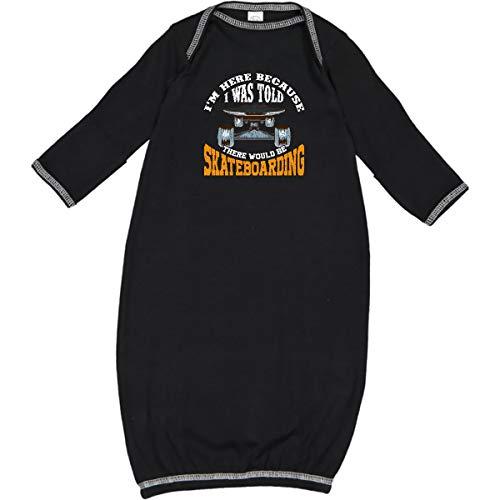 inktastic Skateboarding Funny Skater Gift Newborn Layette Black