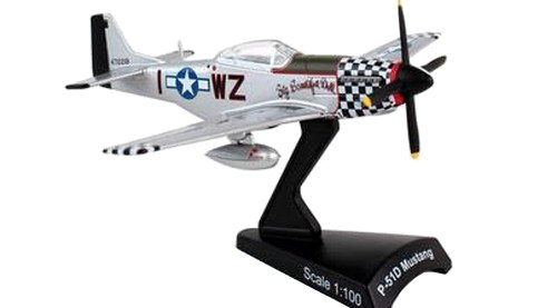 Daron Postage Stamp Plane Big Beautiful - Mustang P-51d Beautiful Doll Big