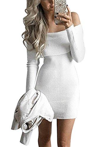 Miss Floral - Vestido - Manga Larga - para mujer blanco