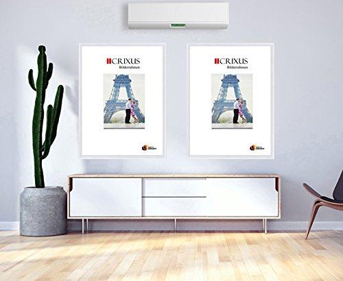 larghezza telaio: 23mm dimensioni esterne: 13,4 x 13,4 cm massello realizzata su misura con vetro acrilico antiriflesso e parete posteriore in MDF Crixus23 Cornice in vero legno per immagini 10 x 10 cm colore: bianco lucido