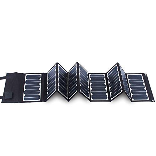KINGSOLAR™ Highest Efficient 60W Foldable Solar Panel Portable Solar Charger Dual Output (USB Port + DC Output) by KINGSOLAR™ (Image #1)