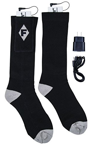 Flambeau Men's Heated Socks Kit, Large, Gray Sportsman Socks