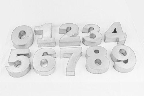 Euro Tins Kleine Zahlen Backform 0 Bis 8 Komplett Set Fur Geburtstag