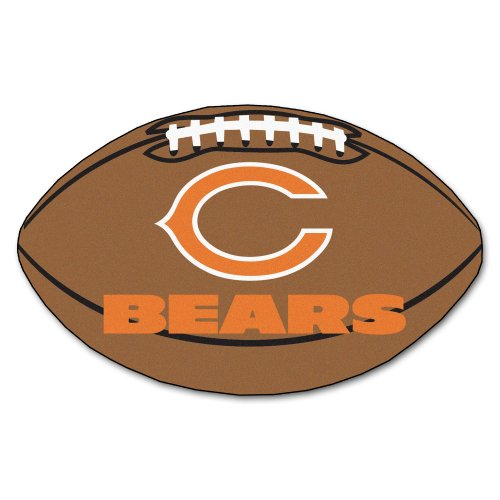 FANMATS NFL Chicago Bears Nylon Face Football Rug