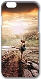 Girl Dance At Rain Creative Art Apple iPhone 6 Case, 3D iPhone 6 Cases Hard Shell Cover Skin Casess
