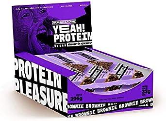 Barra de Proteínas, Brownie sem Açúcares, Vegana, Yeah! Protein, 12 Unidades de 33g