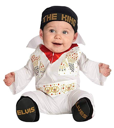 Elvis Onesie Costume, Multicolor, Newborn ()