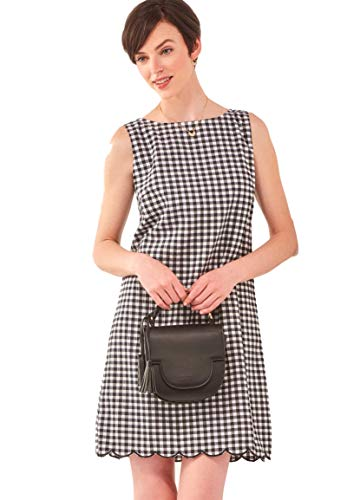 Charlie Paige Summer Black and White Checkered Shift Dress (Large)