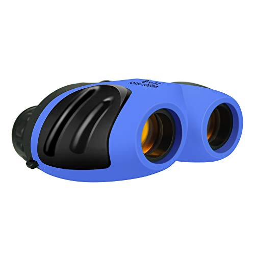TOPTOY Outdoor Toys for 6 Year Old Boys Girls, Shockproof Camping Hunting Binoculars for Kids Bird Watching Gifts for 3-12 Year Old Boys Girls Blue -