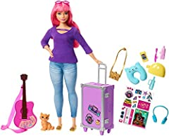 Daisy doll can take her kitten, and young dreamers, around the world with this travel-themed Barbie set. Inspired by Barbie Dreamhouse Adventures, it comes with so many pieces to help imaginations take off -peek into the everyday life of Barb...