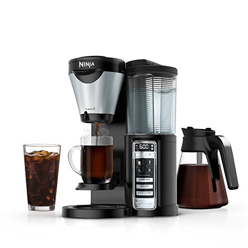 Ninja 3-Brew Hot and Iced Coffee Maker with Auto-iQ, 24-Hour Delay Brew Option, 4 Brew Sizes, Ninja Smart Scoop, and Removable Water Reservoir (CF021) (Ninja Coffee Bar Single Serve Coffee Bar System)