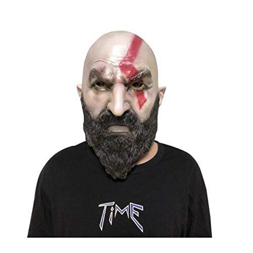 Luxury & Trendy God of War 4 Mask Cosplay Kratos Horror Latex Helmet Halloween Party Props ()