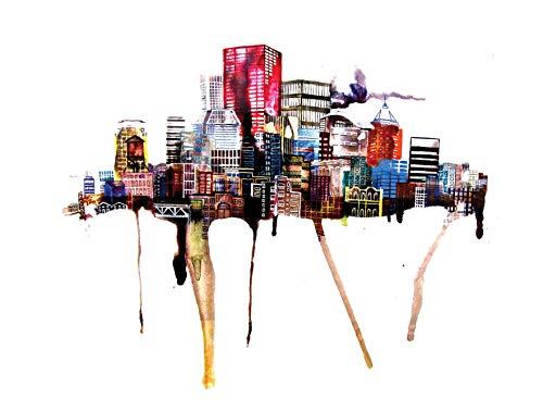 Portland, Oregon Skyline Painting Travel Art Print Poster by Ursula Barton (9