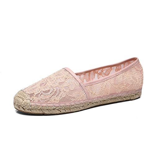 Urethane Pink APL10874 Embroidered Pumps Casual Lace Shoes Womens BalaMasa zIwRUU