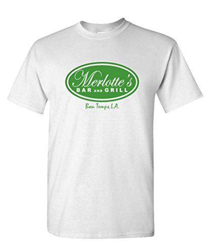 - MERLOTTE'S BAR AND GRILL - tv show series - Mens Cotton T-Shirt, XL, White
