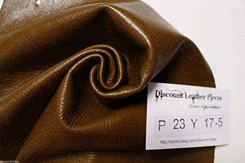 Sm scrap leather hide: Rye Brown. Sm grain, med sheen. Appx 1sqft DP23Y17-5