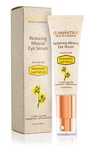 Eye Serum Anti Aging Restoring - Hydrating, Plumping, Brightening Serum for Instantly Ageless, Radiant Under Eyes - Natural Wrinkle Remover & Dark Circles Under Eye Treatment by SEAMANTIKA - .8 oz