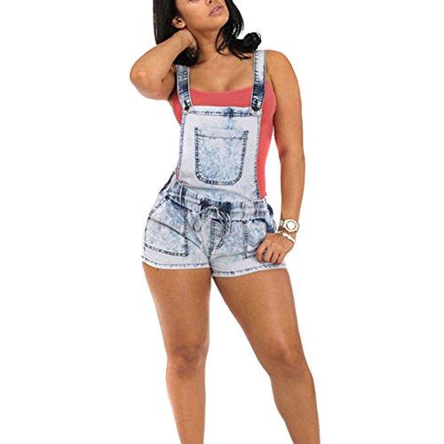 bretelle sexy pantaloncini Short denim da Wildeal Playsuits con strap pantaloni salopette jeans donna skinny body S0qxdz