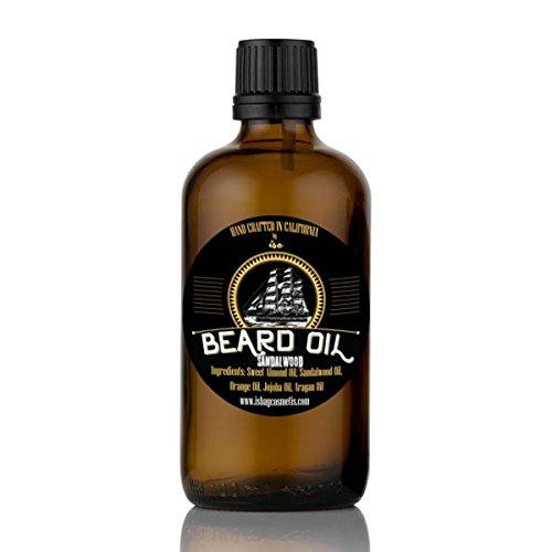 Beard Oil Sandalwood - 4 oz. Direct from Manufacturer, Premium Beard oil for a more kissable, Beard-ruff free beard. from I Shay Cosmetics