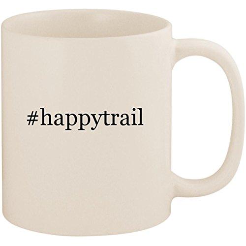 #happytrail - 11oz Ceramic Coffee Mug Cup, White