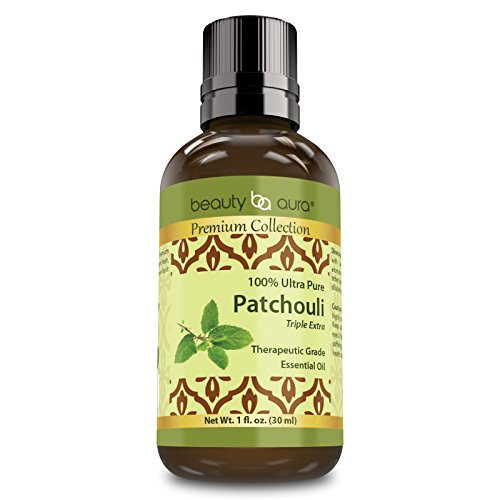 Price comparison product image Beauty Aura Premium Collection - 100 Percent Ultra Pure Patchouli Therapeutic Grade Essential Oil - 1 Fluid Ounce - Uplifting & Energizing - Healthy Hair & Skin Support