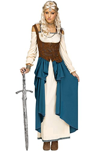 Fun World Women's Viking Queencostume, Multi, Small/Medium -