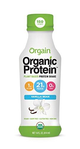 Orgain Organic 21g Plant Based Protein Shake, Vanilla Bea...