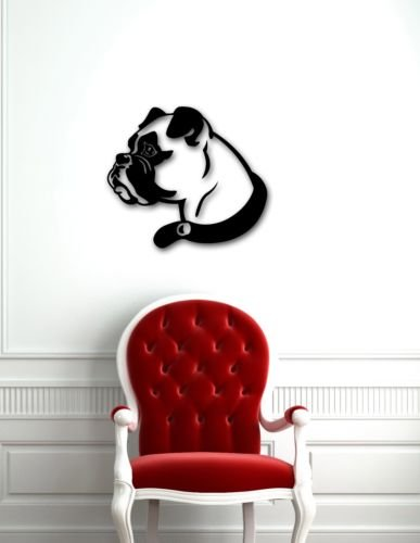 chengdar732 Wall Stickers Vinyl House Home Office Classroom Sticker Decal Dog Boxer Animal Nice Home Decor Room