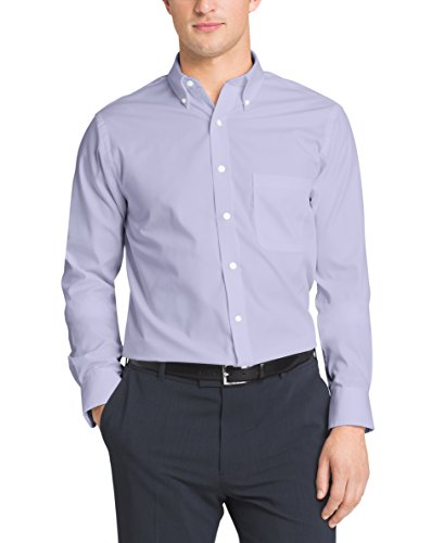 Free shipping van heusen mens pinpoint regular fit solid for Pinpoint button down dress shirt
