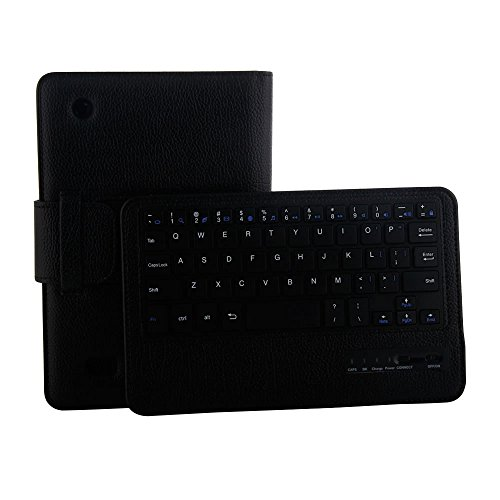 Pinhen Kindle Fire 7 2015 Keyboard Case Wireless Removable Bluetooth keyboard Cover Case for Amazon Kindle Fire 7 inch Display Tablet Black (5th Generation 2015 Release Only)