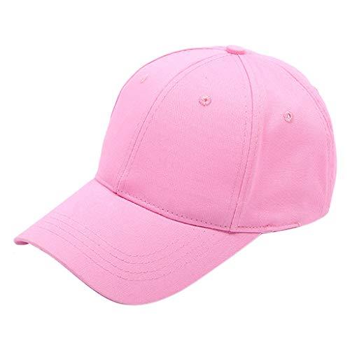 Classic Baseball Cap Truck Driver Visor Dad Hat Simple Adjustable Outdoor Sun Protection Sun Hat Pink