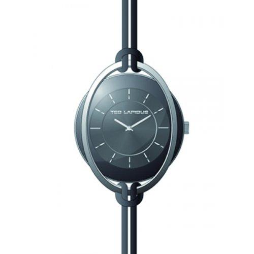 Ted Lapidus – a0613rnin – Reloj Mujer – Cuarzo Analógico – Esfera Negra – Correa Piel
