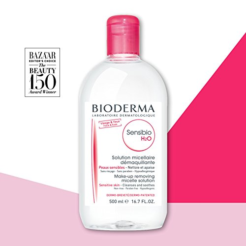 41flIXQNzNL Bioderma Sensibio H2O Micellar Cleansing Water and Makeup Remover Solution for Face and Eyes - 16.7 fl. oz.