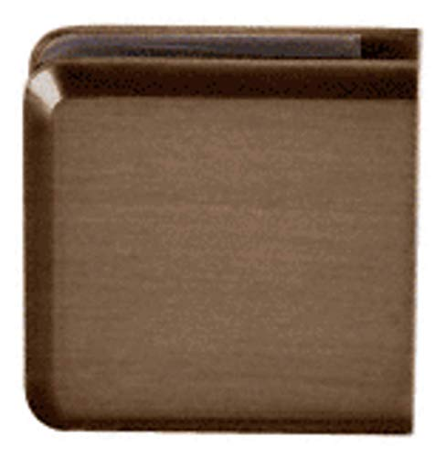 CRL Brushed Bronze Hole in Glass Style Beveled Wall Mount ()