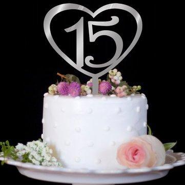Custom Love Digital Mirror Silver Wedding Cake Collection Fine Cake Decorative Birthday Cake - Decorative Crafts Furnishing Articles - 10Pcs X Yellow Chinese knot