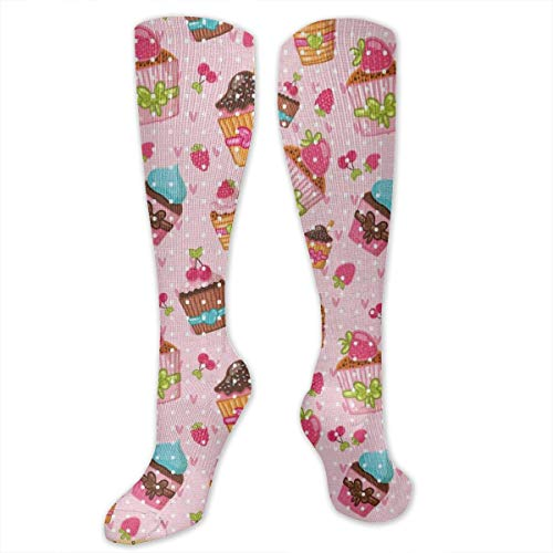 - BIOPOPAK Kitchen Cupcakes Muffins Athletic Socks - Over The Calf,Personalized Stockings Tailored for Fashion,Suitable for Parties,Bars,Sports,Yoga,Mountain Climbing,Ceremonies,Parades, Couples