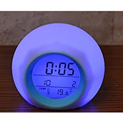 Shuangklei Colorful Lazy Alarm Clock Natural Sound Alarm Clock Digital Electronic Alarm Clock.